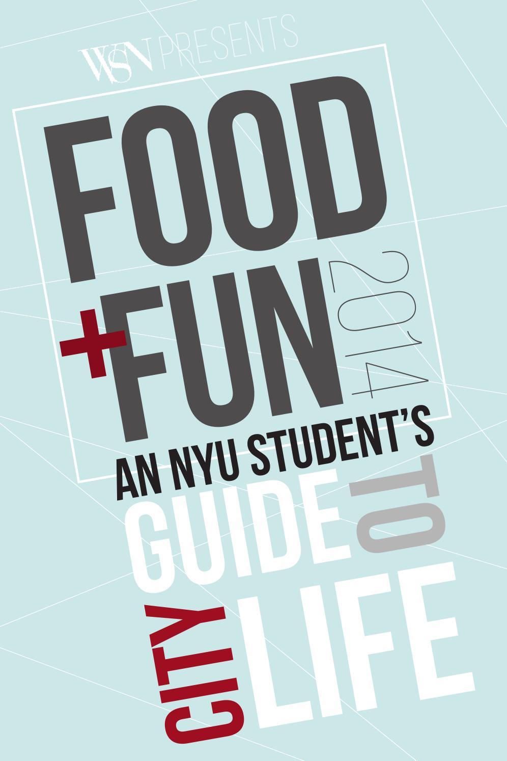 Food Amp Fun Guide 2014 By Washington Square News Issuu
