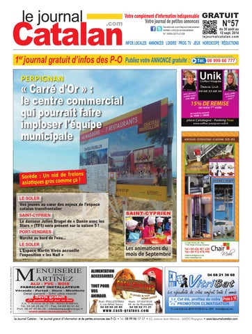 le journal catalan n 57 premier journal gratuit d 39 informations et de petites annonces des po by. Black Bedroom Furniture Sets. Home Design Ideas
