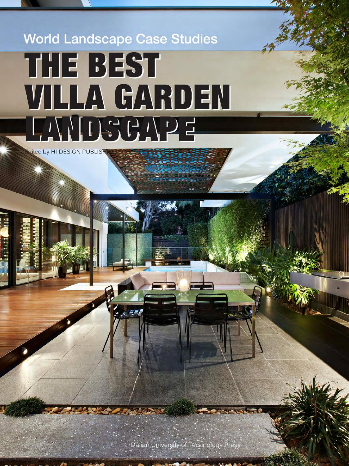 The best villa garden landscape by hi design international for Landscape villa design