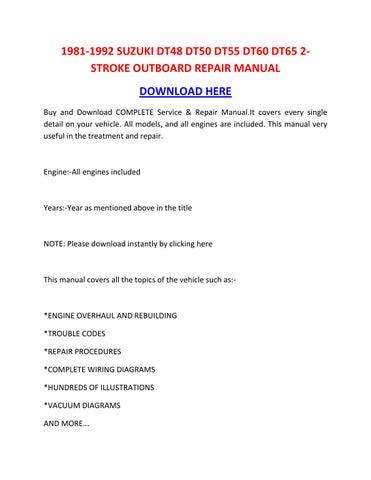Service manual suzuki dt65