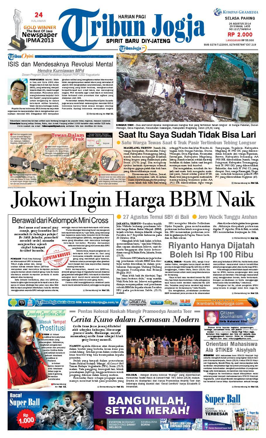 Tribunjogja 26 08 2014 By Tribun Jogja Issuu Tcash Vaganza 36 Produk Ukm Bumn Batik Print Motif3