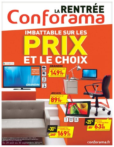Conforama catalogue 20aout 30septembre2014 by ...