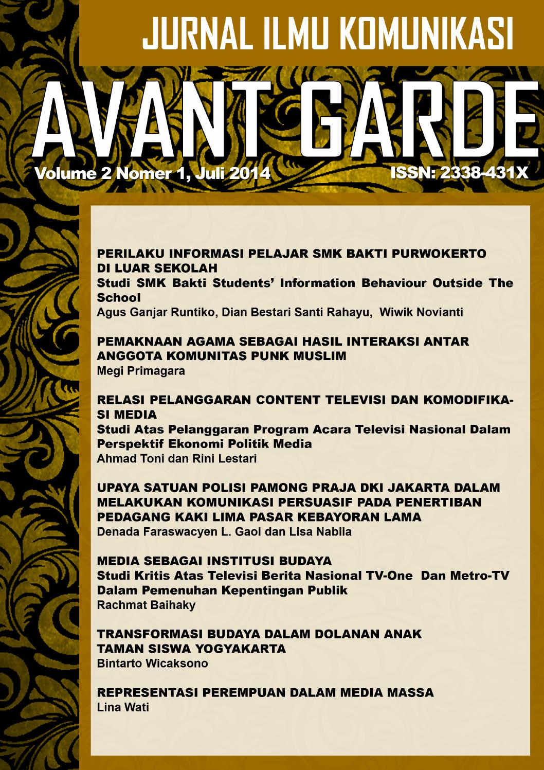 AVANT GARDE VOL 1 NO 2 JULI 2014 by Arief Ruzlan - issuu f6c4868ce1
