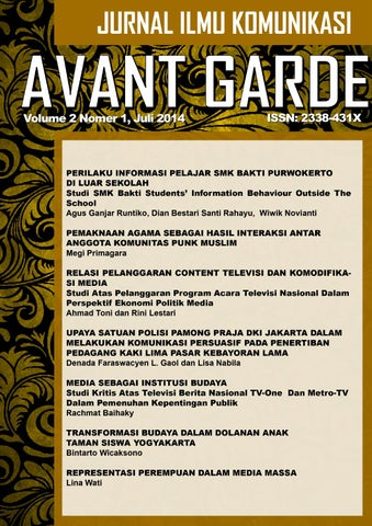 Avant Garde Vol 1 No 2 Juli 2014 By Arief Ruzlan Issuu