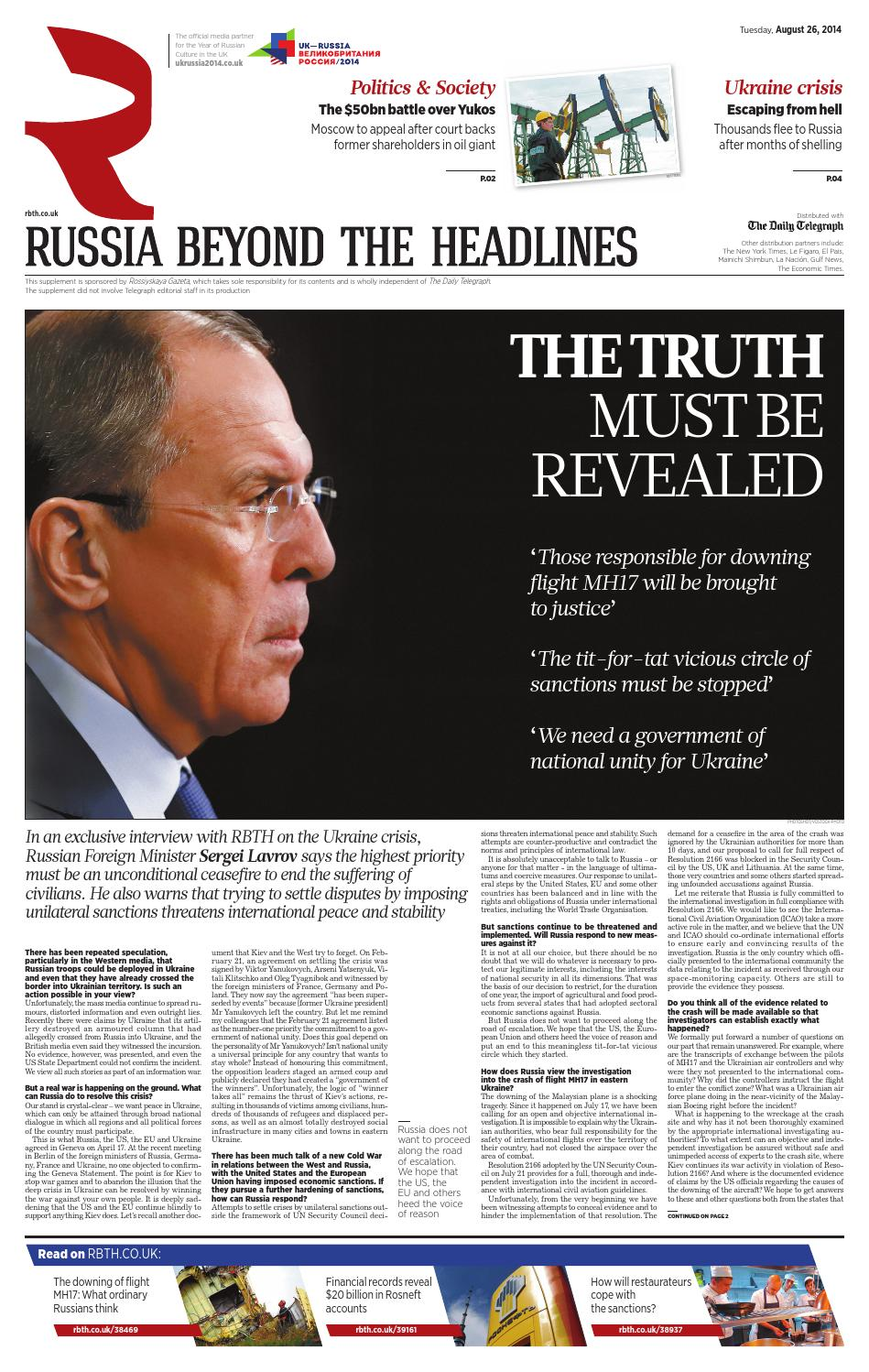 RBTH for The Telegraph #8 by Russia Beyond The Headlines - issuu