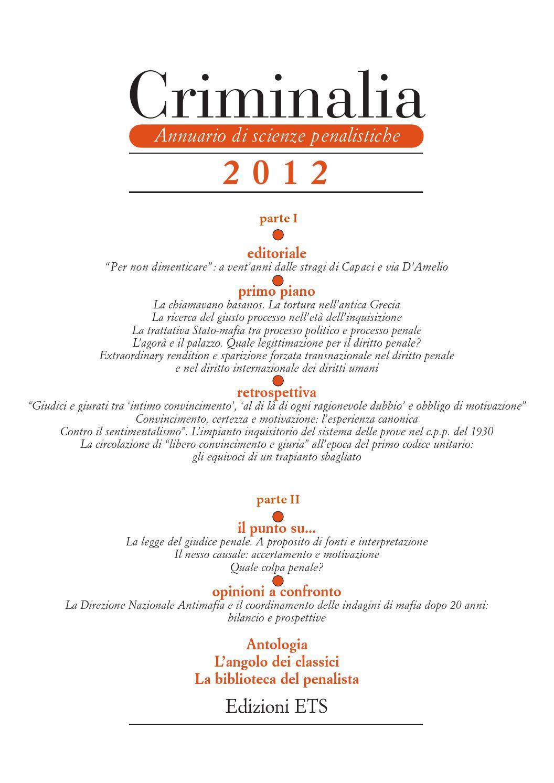 Crimnalia 2012 - Parte II by Edizioni ETS - issuu d278962219f9