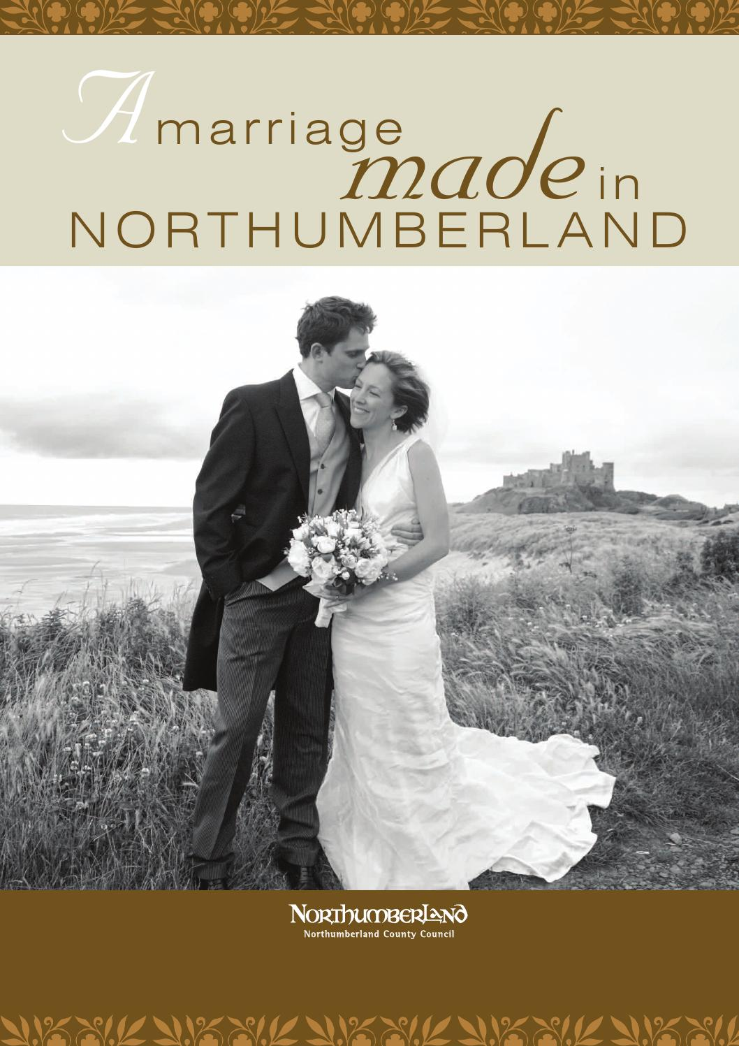 Wedding Brochure By Northumberland County Council