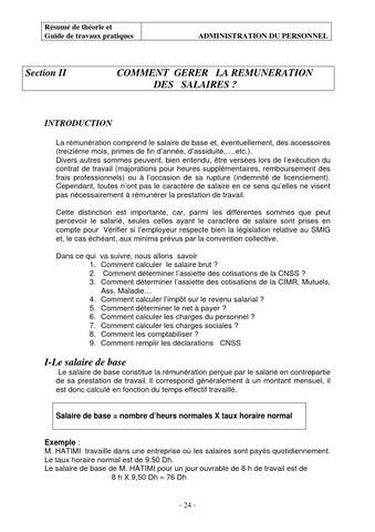 Traitement Des Salaires Et Charges Sociales Et Fiscales Tsge By