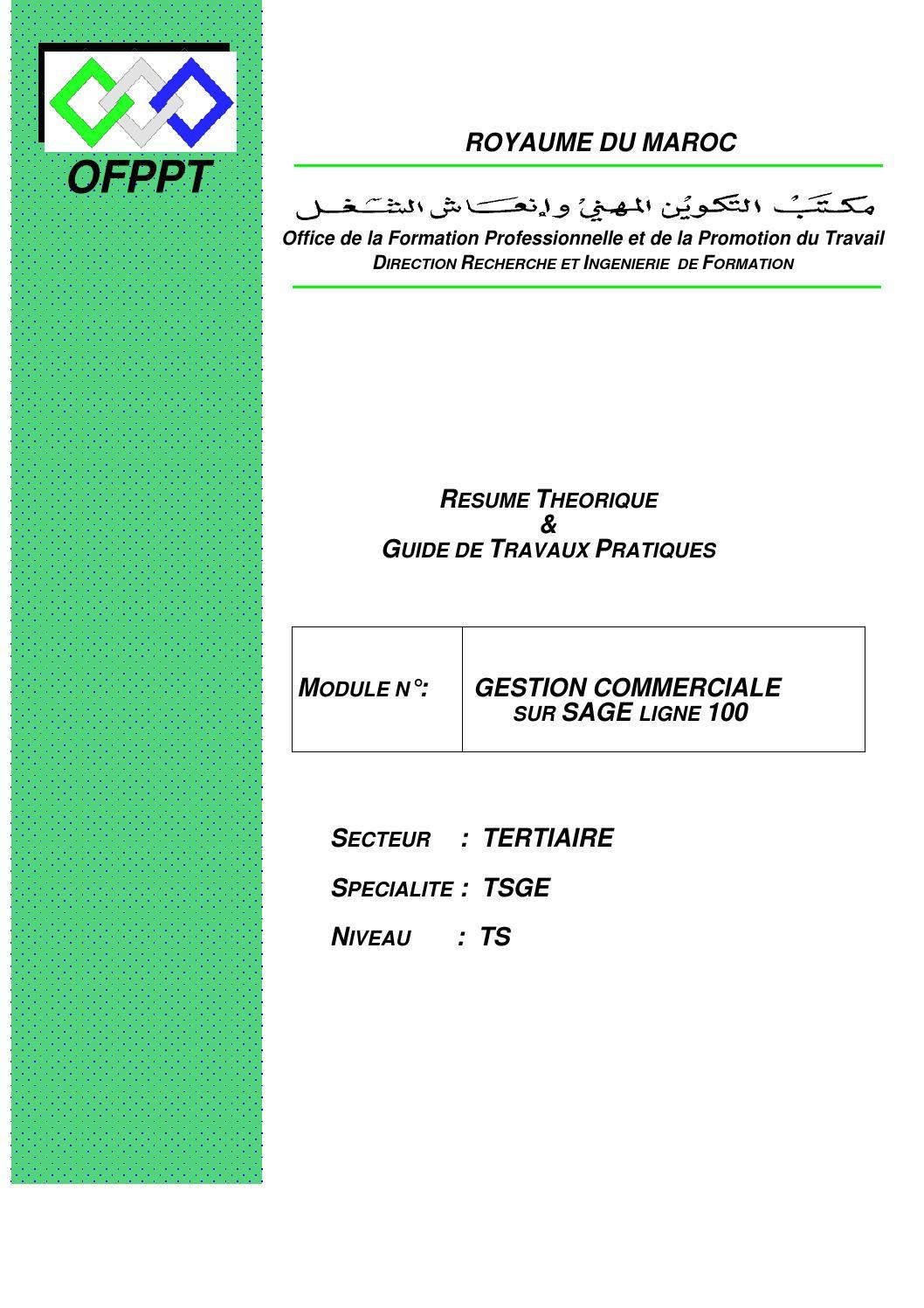 module 12 tsge logiciels de gestion comptabilit u00e9 paie commerce ofppt by semmah el