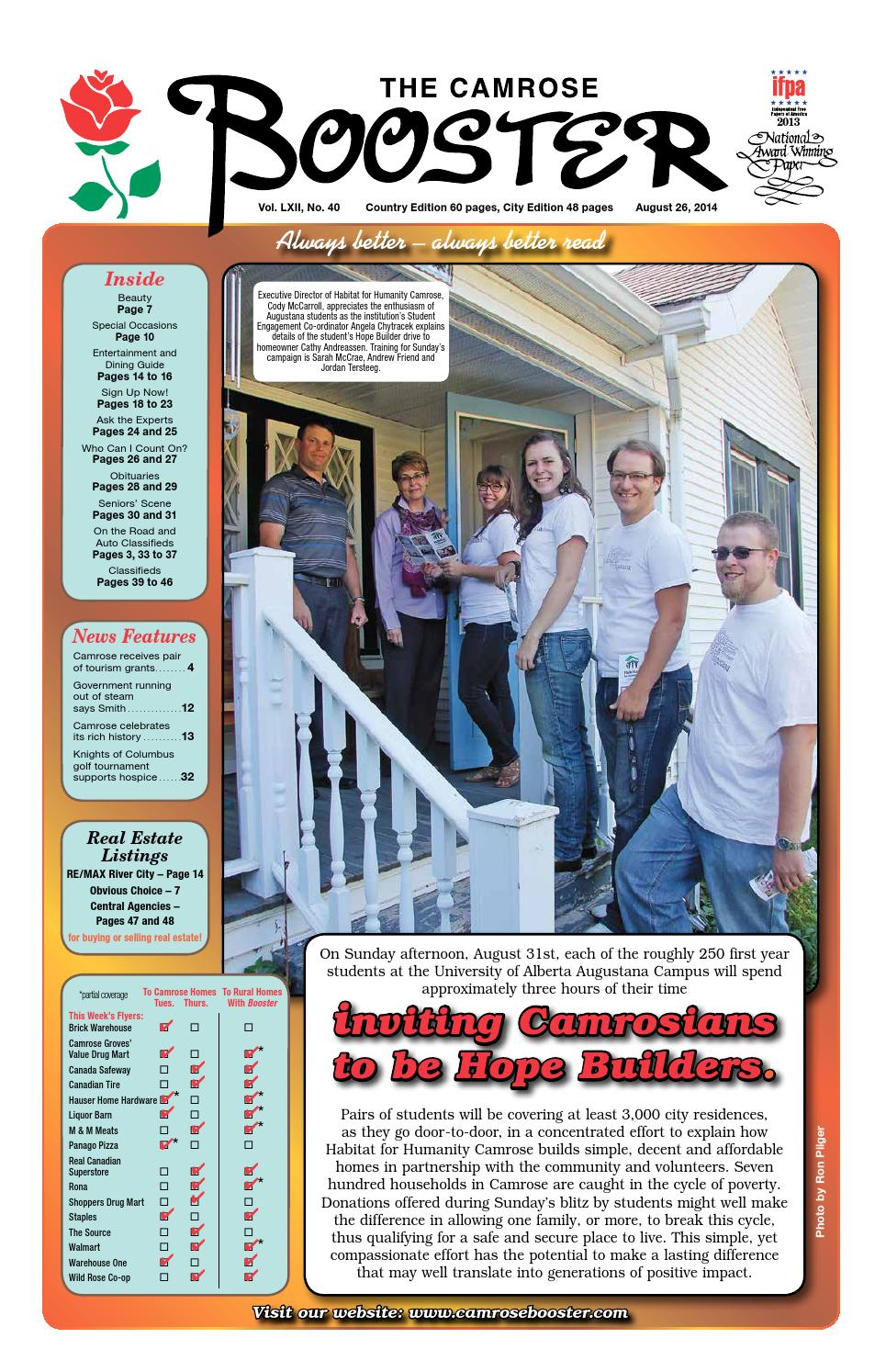 August 26, 2014 Camrose Booster by The Camrose Booster - issuu