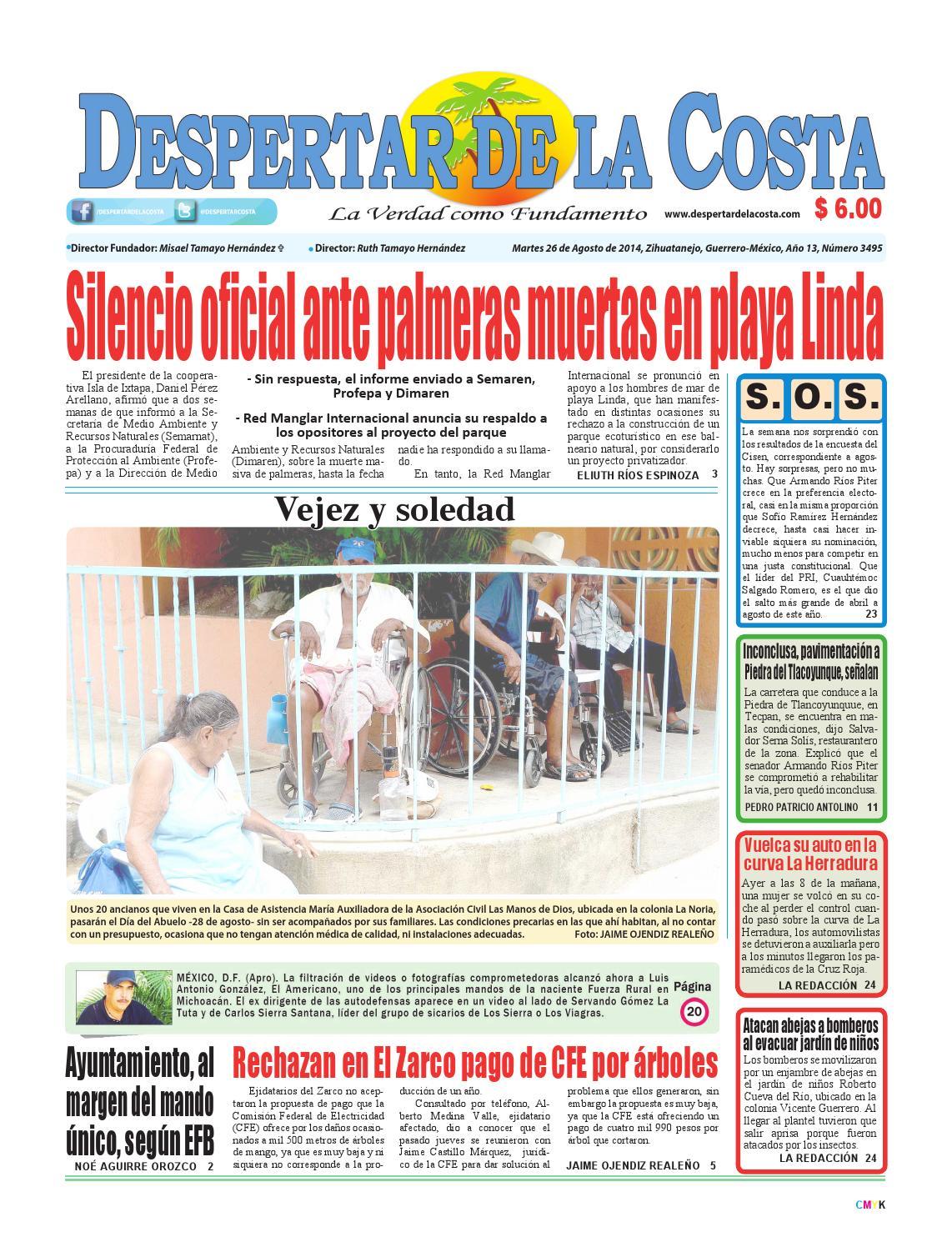Edición impresa 26/08/14 by Despertardelacosta - issuu