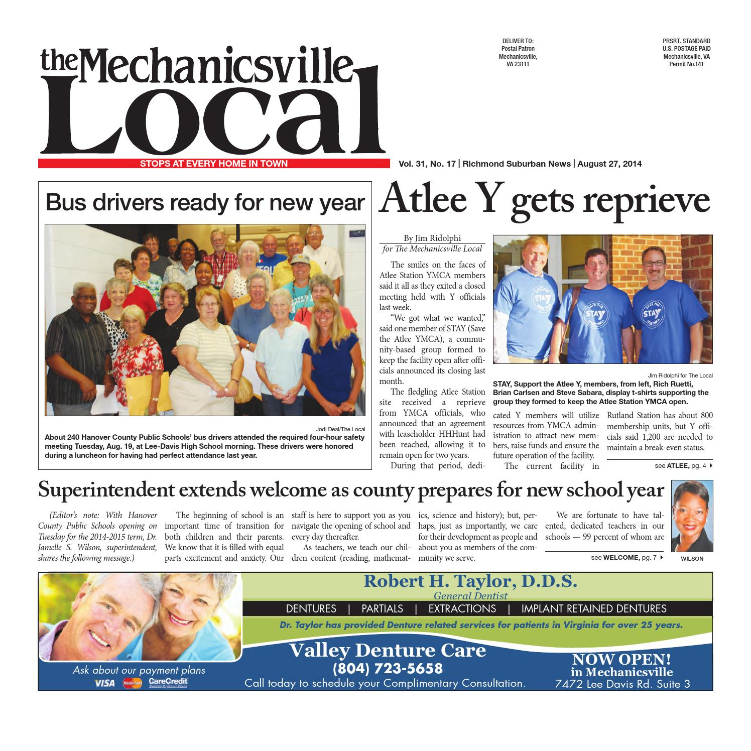 08/27/2014 by The Mechanicsville Local - issuu