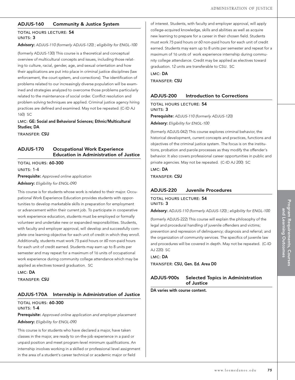2014/15 Los Medanos College Catalog by Los Medanos College