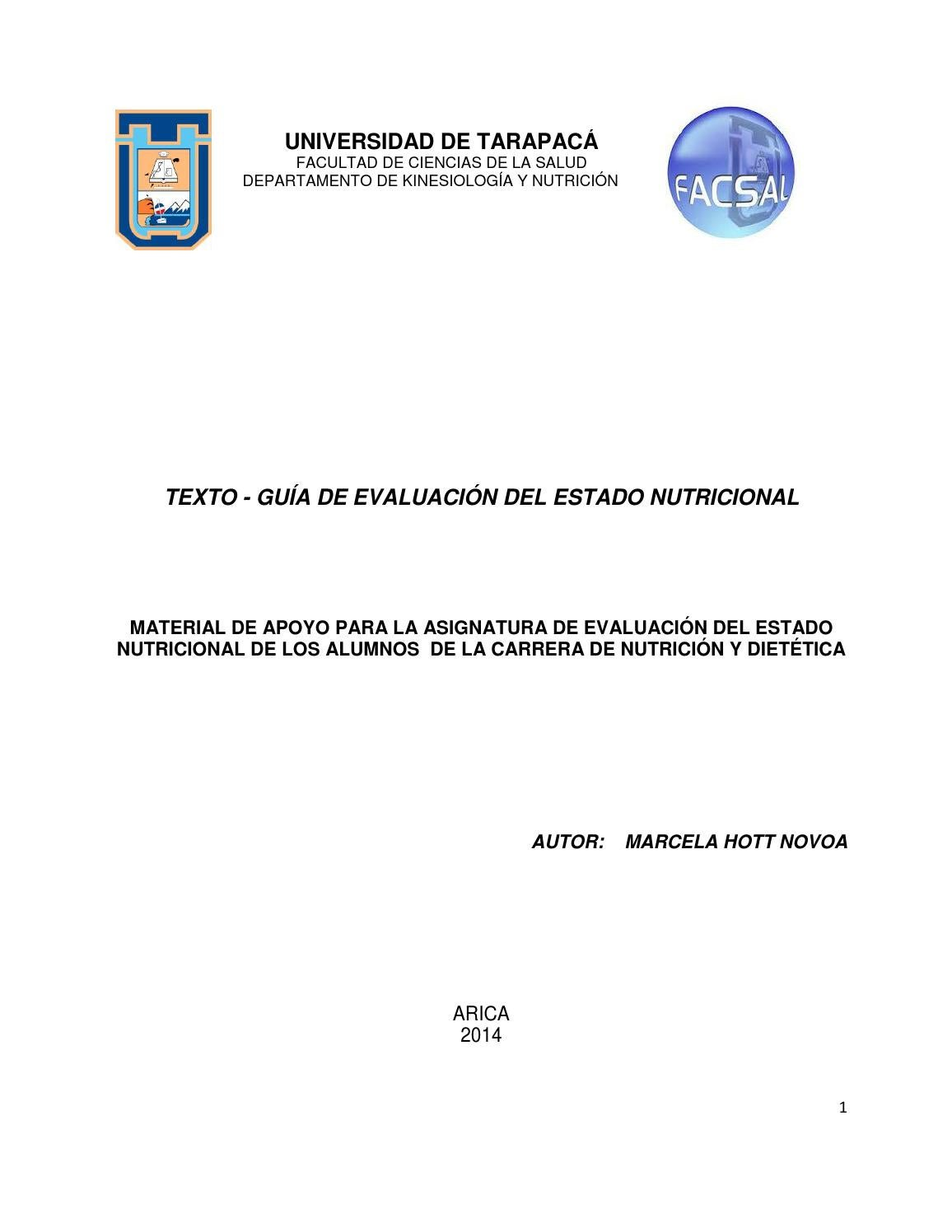 guia evaluacion nutricional 2014 by biblioteca uta issuu