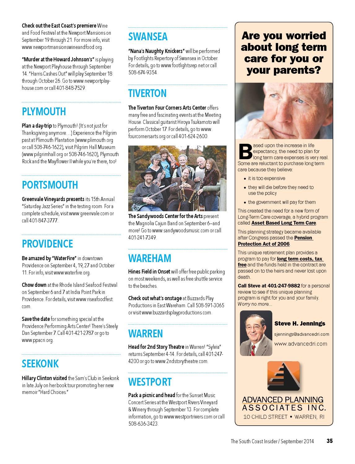 The South Coast Insider - September 2014 by Coastal