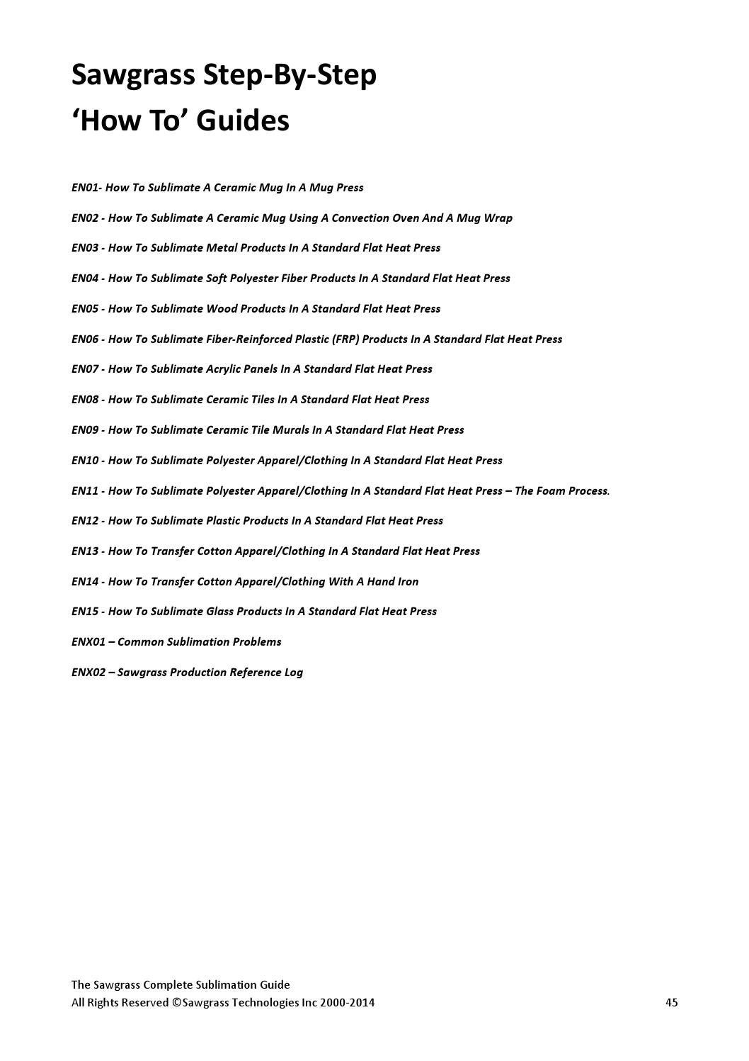 274c73792 Sublimationguide2014 3 by ryan@itsupplies.com - issuu