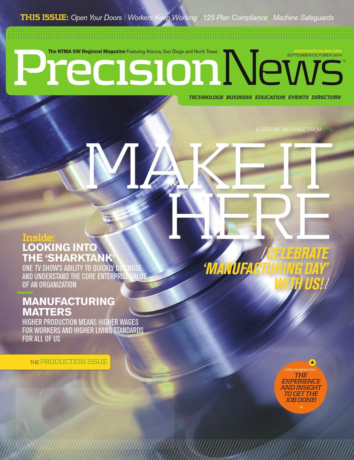 Precision News September/October 2014 by ATMA - Chris