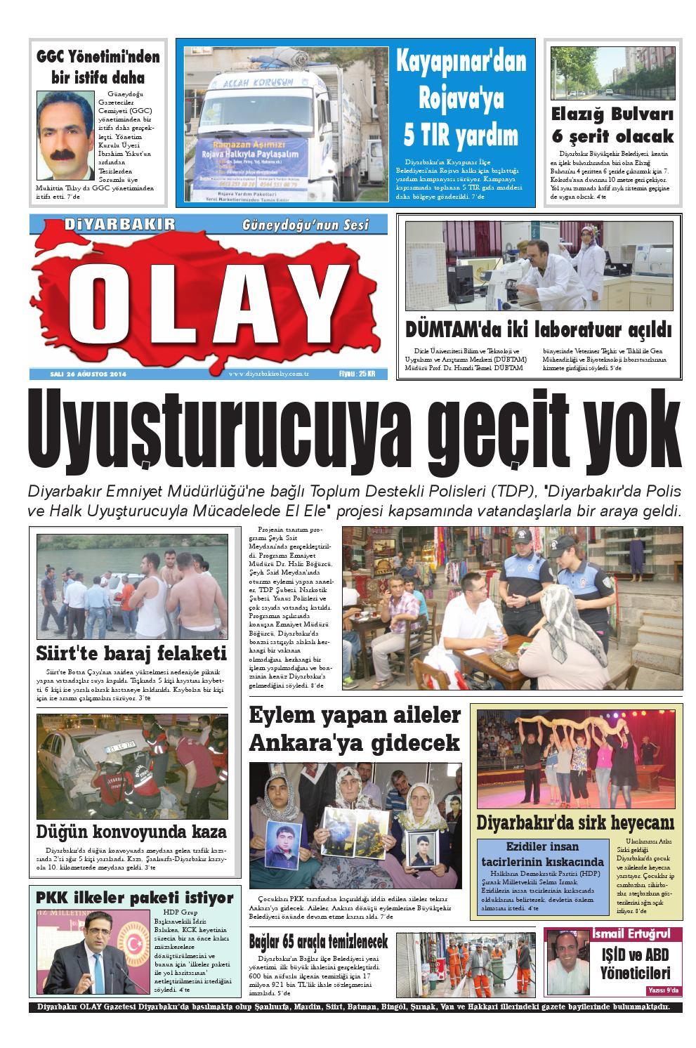 26 08 2014 Gazete Sayfalari By Diyarbakir Olaygazetesi Issuu