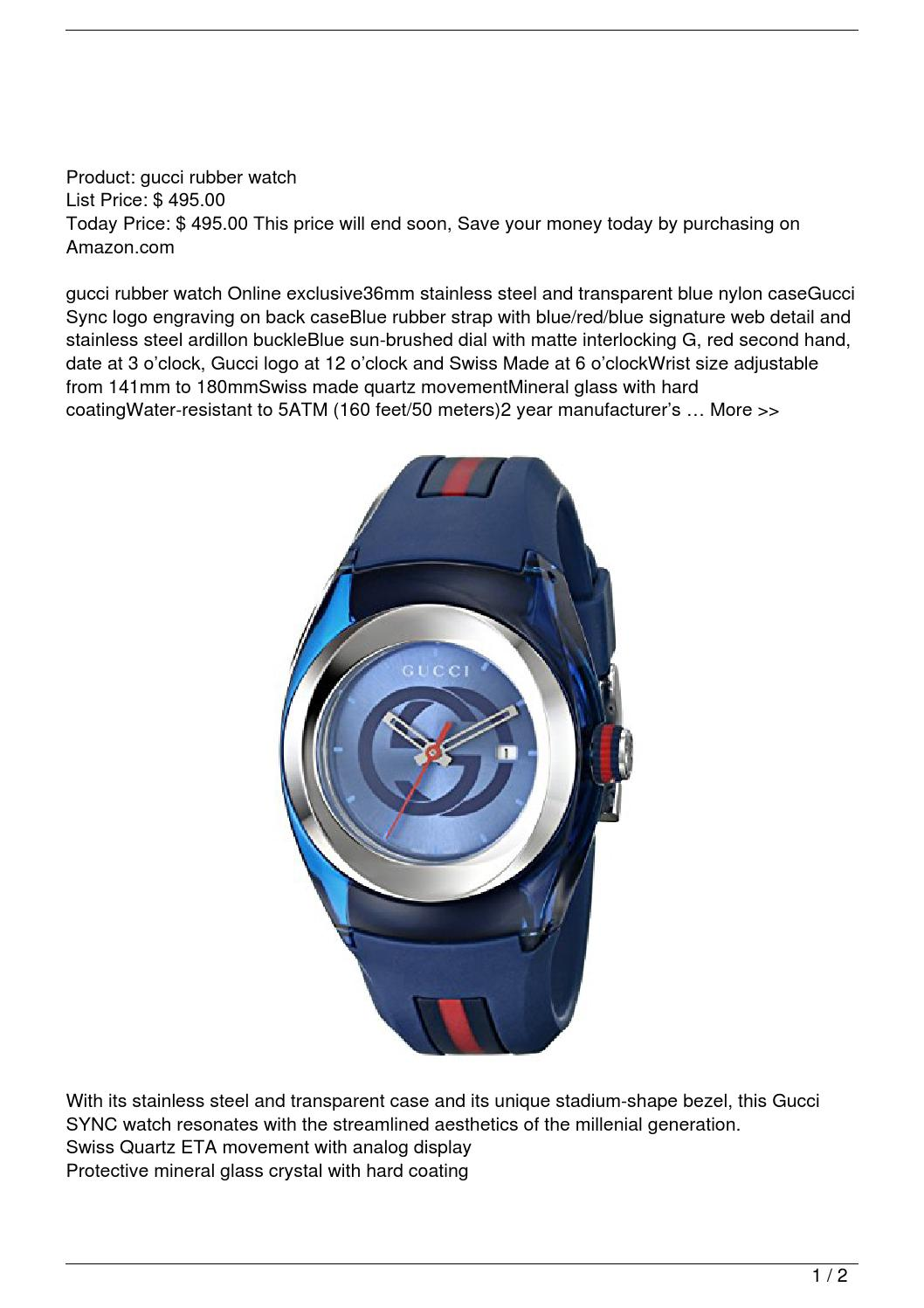 779e1e9c976 Gucci SYNC L YA137304 Watch Watch Reviews by khanh - issuu