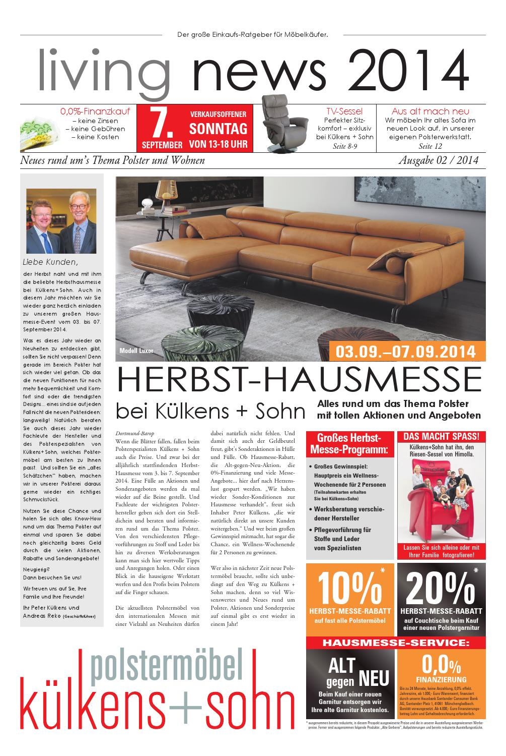 kuelkens hauszeitung 0814 by perspektive werbeagentur issuu. Black Bedroom Furniture Sets. Home Design Ideas