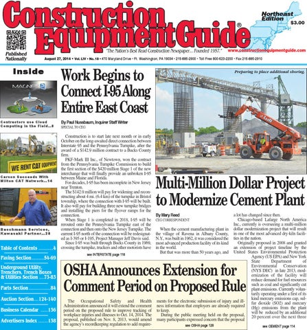 Northeast 18 2014 by Construction Equipment Guide - issuu on