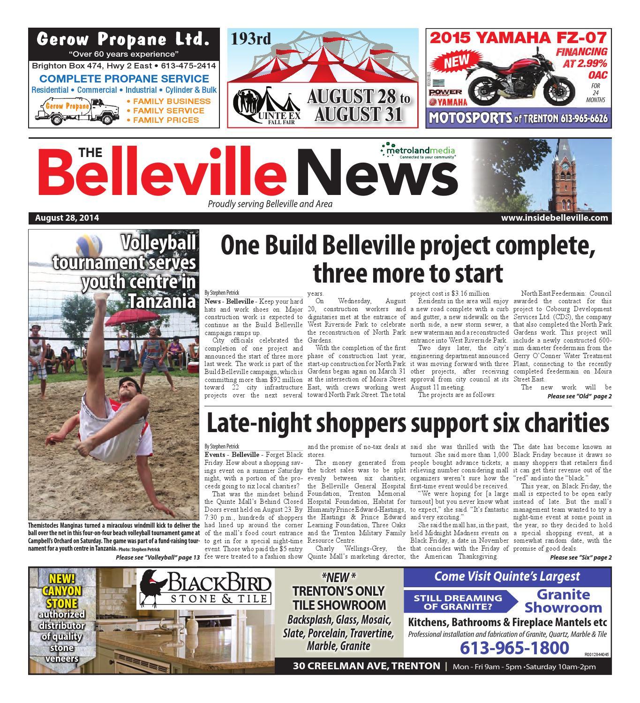 f16c65f7754 Belleville082814 by Metroland East - Belleville News - issuu