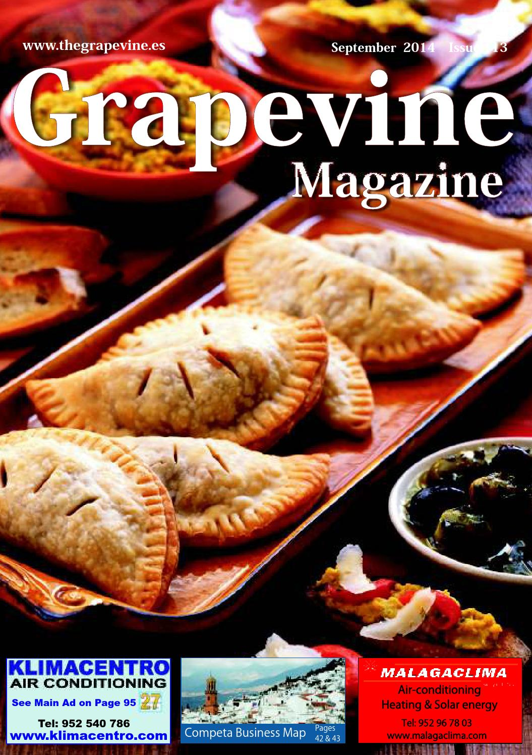 The Grapevine Magazine September 2014 By The Grapevine Magazine  # Muebles Piramides Caleta De Velez