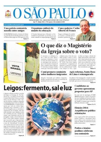 6d7c1f1d4e7 O SÃO PAULO - edição 3016 by jornal O SAO PAULO - issuu