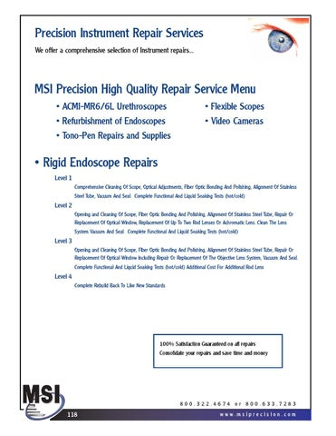 MSI Disposable Products Catalog by MSI Precision Instruments