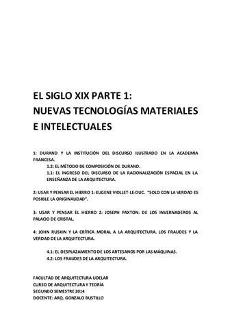 El siglo xix nuevas tecnologías materiales e intelectuales txt by ...