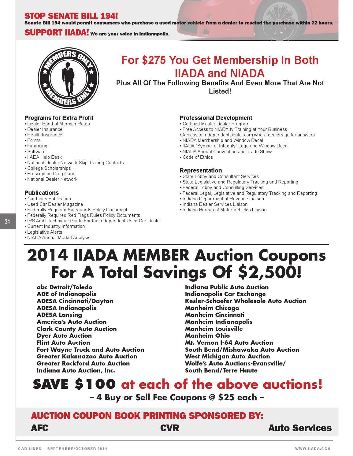 Indiana Public Auto Auction >> In 0914 By Niada Issuu