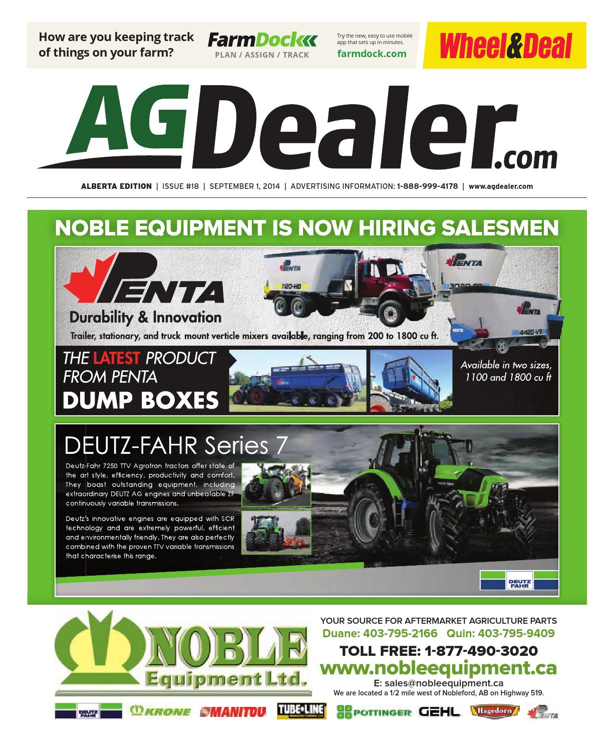 Wheel & Deal Alberta, September 1, 2014 by Farm Business Communications  - issuu