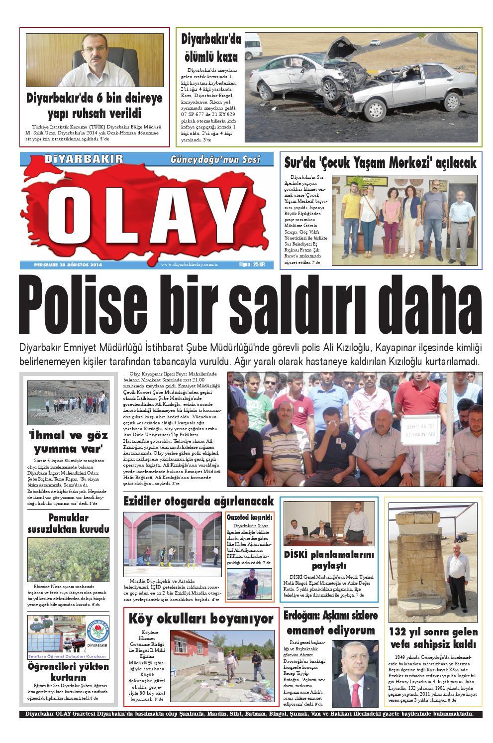 28 08 2014 Gazete Sayfalari By Diyarbakir Olaygazetesi Issuu