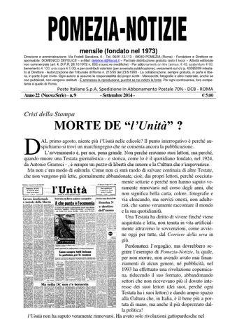 mensile (fondato nel 1973) Direzione e amministrazione  Via Fratelli  Bandiera 63f263080ac