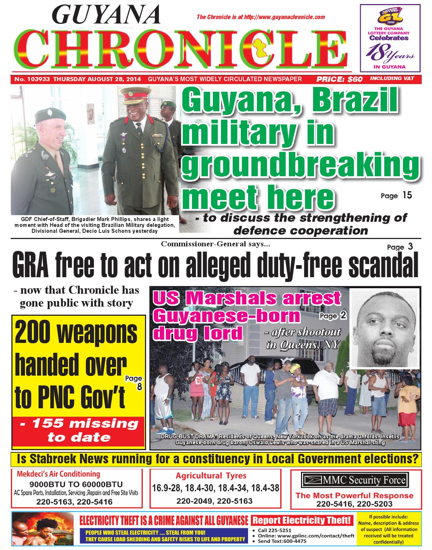Guyana chronicle 28 08...