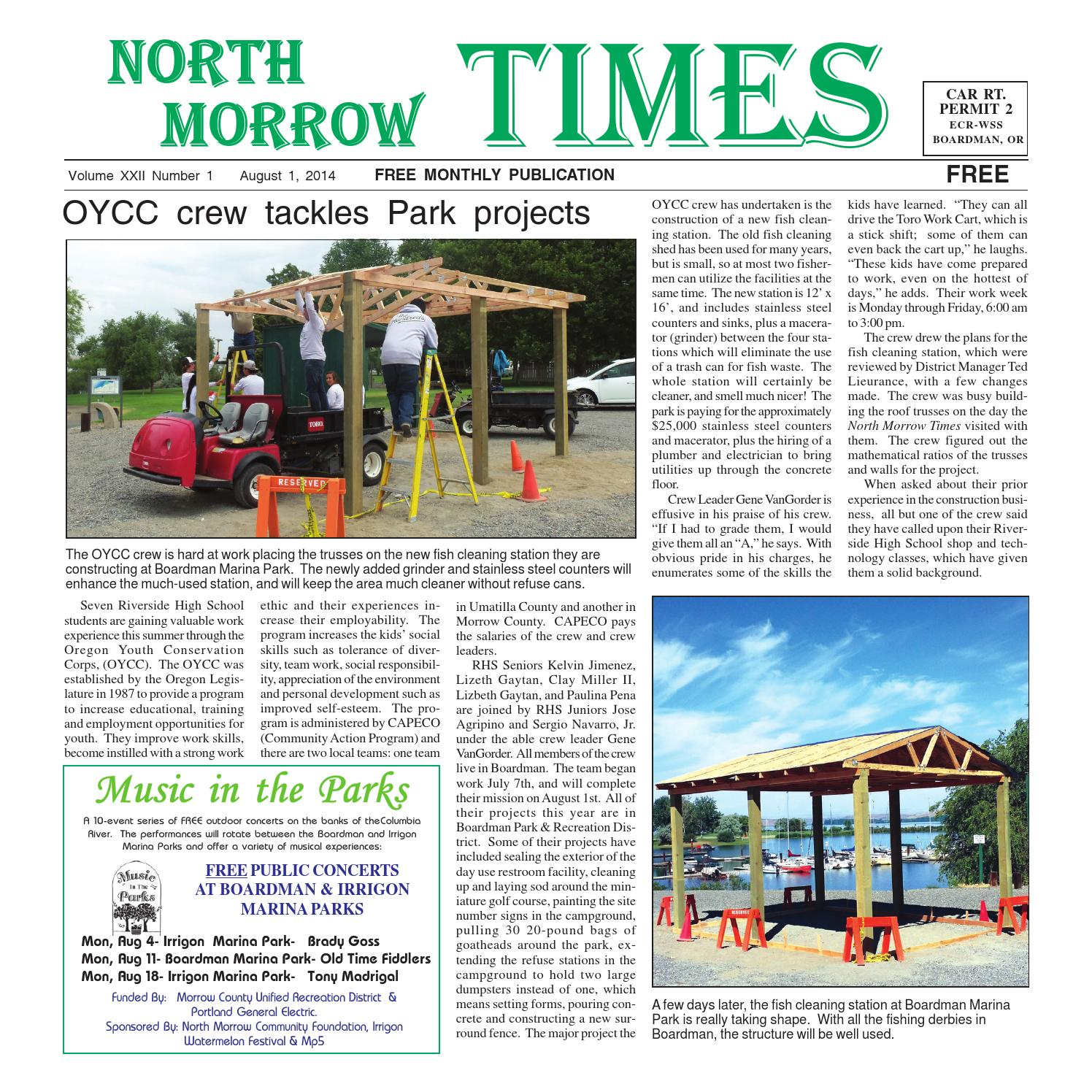 North Morrow Times August 2014 by North Morrow Times issuu