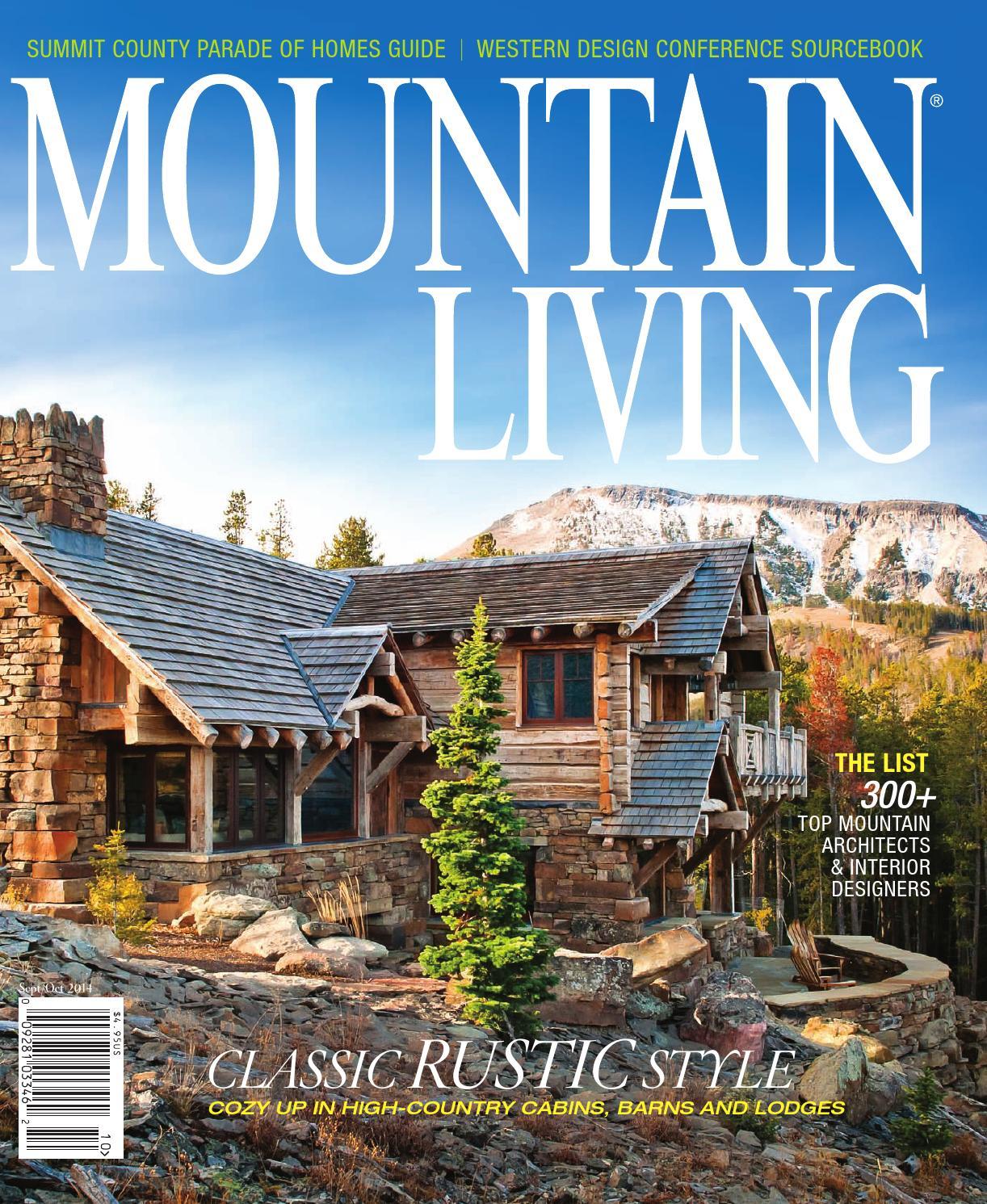 Mountain living september october 2014 by network for Mountain living