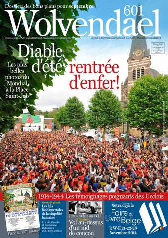 Wolvendael magazine n° 601 septembre 2014 by Centre Culturel d Uccle ... 72009cd8b04