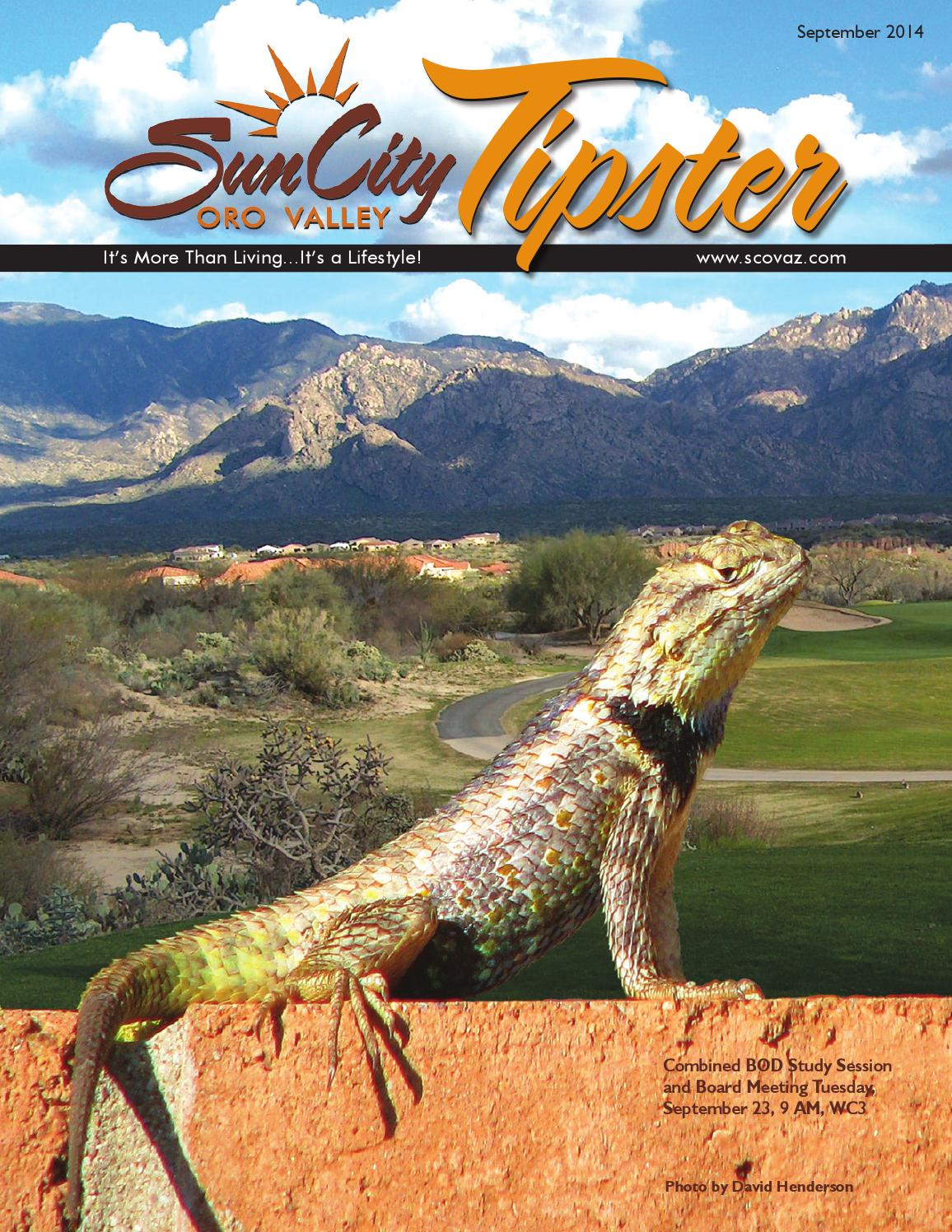 September 2014 Tipster By Sun City Oro Valley Community  # Wertheim Muebles Jose Hernandez