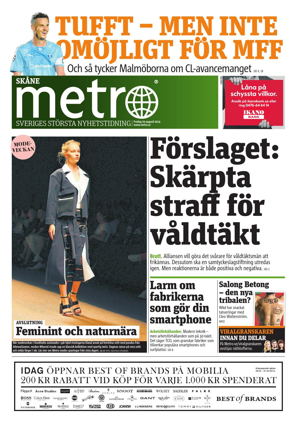 6bc6d98e5eec 20140829_se_malmo by Metro Sweden - issuu