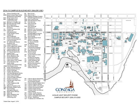 Gonzaga University Campus Map 201415 by Gonzaga University issuu