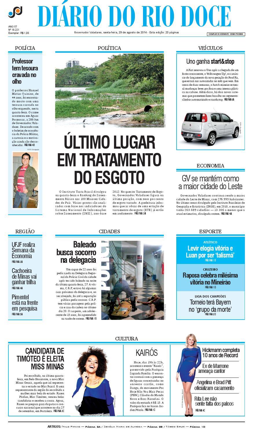 Diário do Rio Doce - Edição de 29 08 2014 by Diário do Rio Doce - issuu f1b5074fe41cc