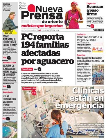 NPO 29 DE AGOSTO DE 2014 by Nueva Prensa de Oriente - issuu