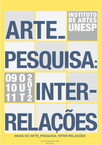 Anais ARTE PESQUISA  INTER-RELAÇÕES - PARTE 2 by Arte e Pesquisa ... 2417d60236