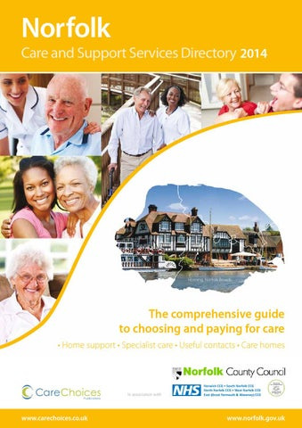 Norfolk Care And Support Services Directory 2014 By Choices Ltd