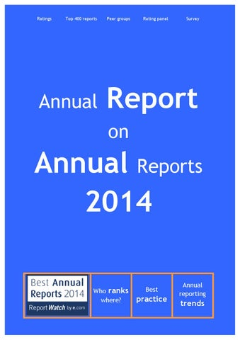 Annual report on annual reports 2014 by e com - ReportWatch