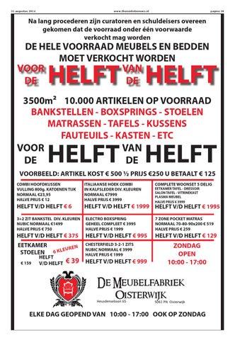 De Helft Van De Helft Bankstellen.Thuis In Het Nieuws Editie Sint Michielsgestel 2014 08 By