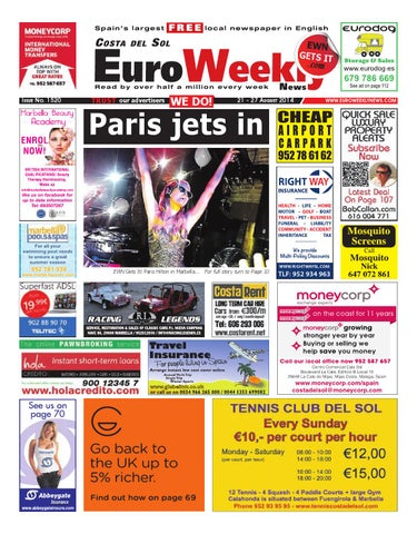 e56aea7cc659 Euro Weekly News - Costa del Sol 21 - 27 August 2014 Issue 1520 by ...
