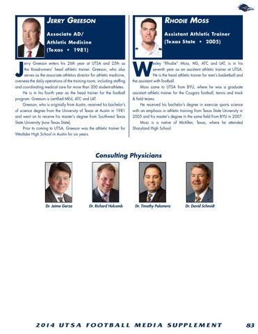 07631fb61 2014 UTSA Football Media Guide by UTSA Athletics Communications - issuu