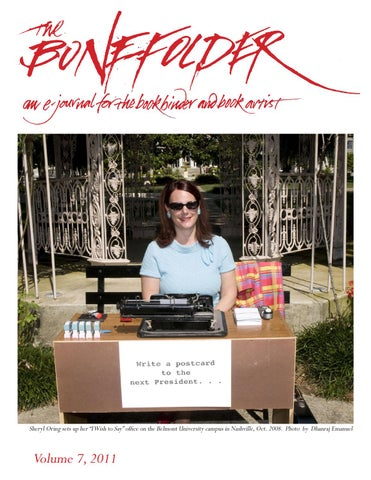 Sheryl Oring Sets Up Her I Wish To Say Office On The Belmont University Campus In Nashville Oct 2008 Photo By Dhanraj Emanuel